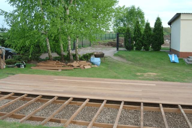 langkah 4 cara memasang decking kayu