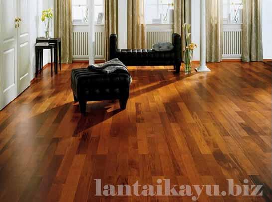 lantai kayu rumah mewah