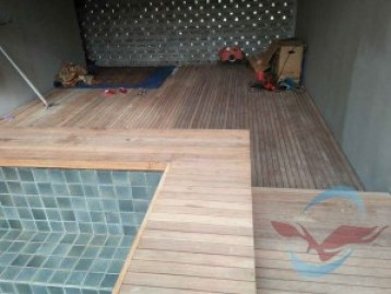 pemasangan decking kayu di jakarta