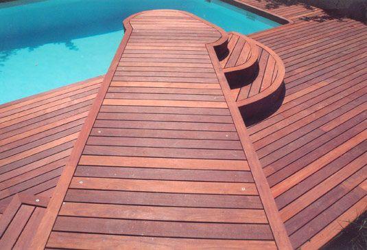 contoh pemasangan decking kayu bengkirai