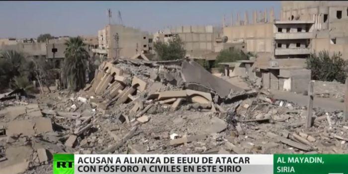 VIDEO. Dov'è la Comunità internazionale? I siriani denunciano l'uso di bombe al fosforo da parte degli USA