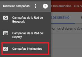 campañas inteligentes de google ads express como identificarlas