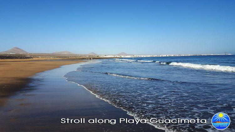 Strolling along Guacimeta Beach
