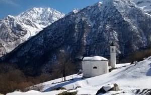 chiesa della frazione Rivotti in Groscavallo
