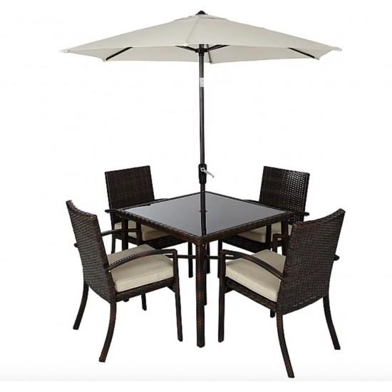 jakarta linen 6 piece patio set