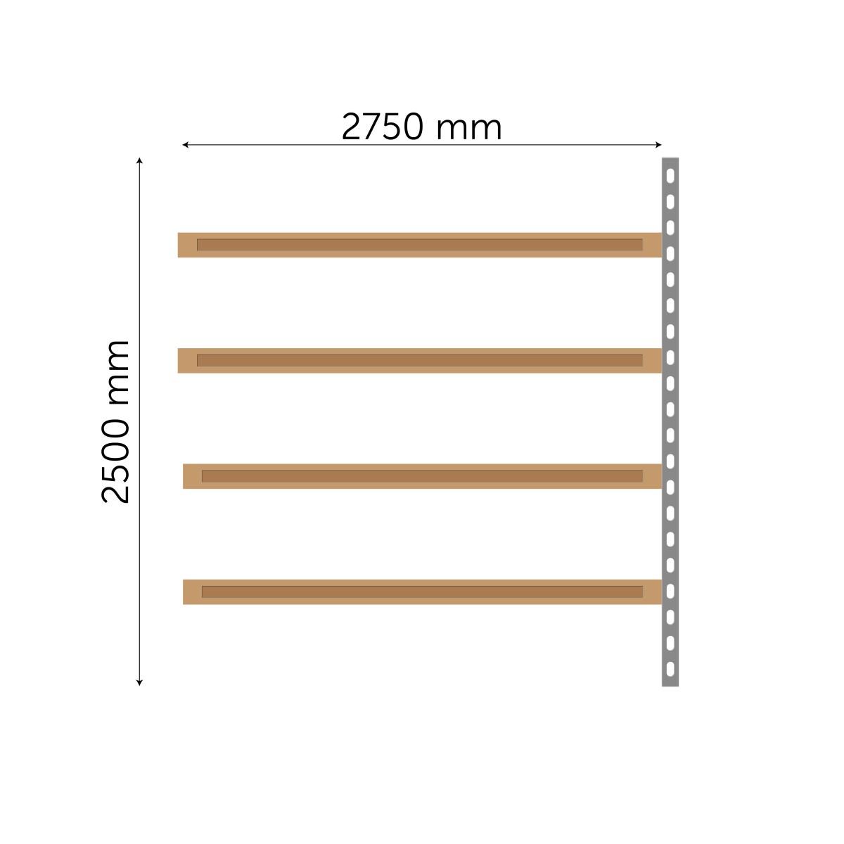 Meediumriiuli jätkuosa 2500x2750mm