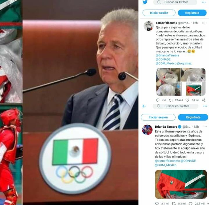 """EQUIPO DE SÓFTBOL """"MEXICANO"""", QUEDARÁ VETADO POR TIRAR SUS UNIFORMES A LA BASURA, TRAS TERMINAR SU PARTICIPACIÓN EN LOS -JO- DE TOKIO JAPÓN 2020."""