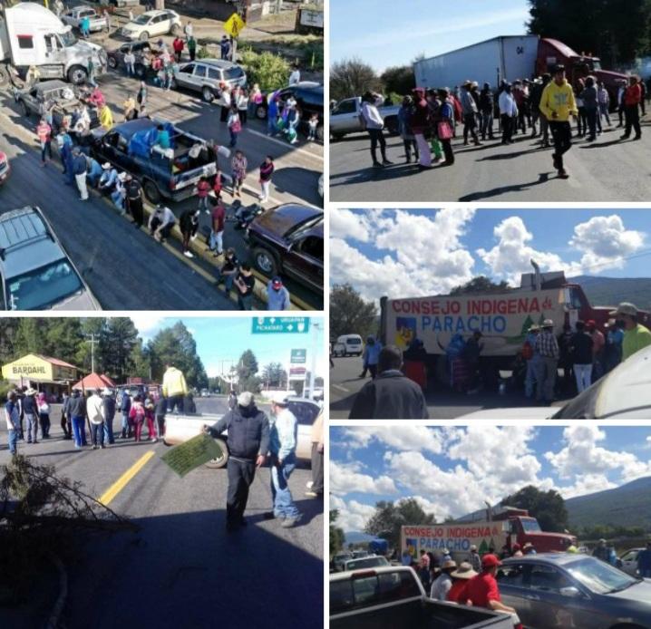 Comunidades indígenas bloquean 5 carreteras exigiendo respeto a la autonomía.
