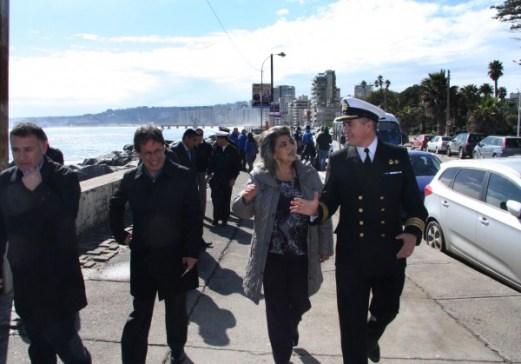 Alcaldesa Virginia Reginato, aviso marejadas 5
