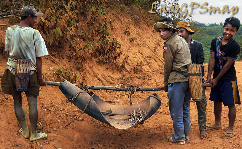 Ho Chi Minh trail bomb-carry