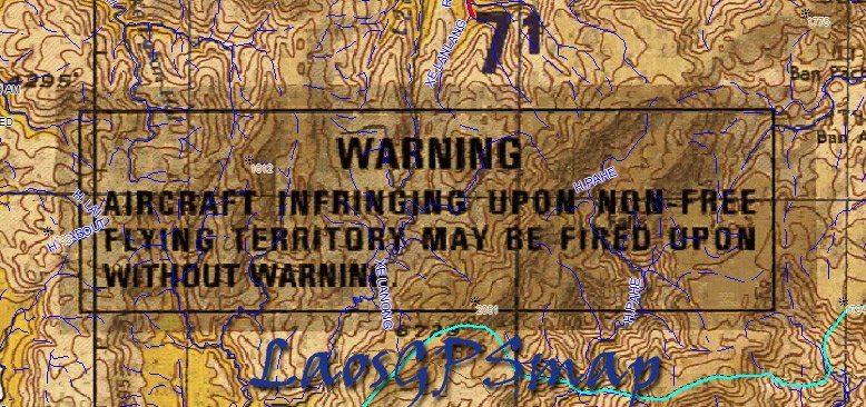 Map warning Danger