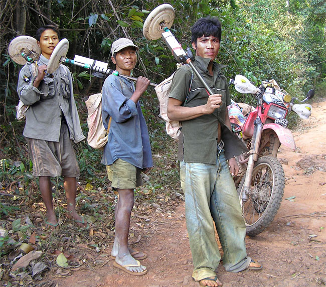 Ho Chi Minh Trail Target Alpha scrap-metal hunters