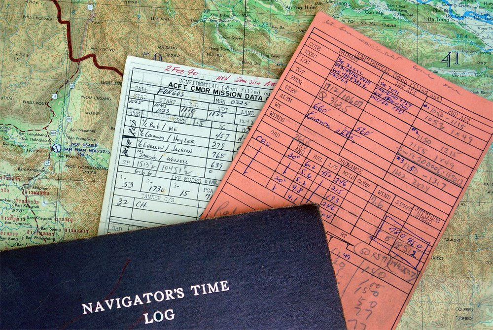 Navigators information for bombing mission