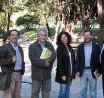 Con Leyva, Roca y Santiago Mutis en Bogotá