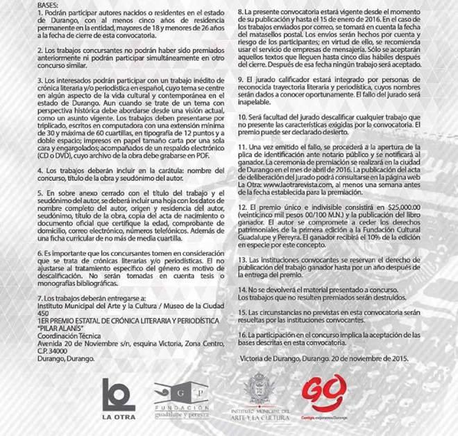 Primer Premio Estatal de Crónica Literaria y Periodística