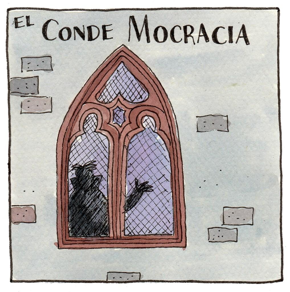 El Conde Mocracia es un vamparido inmortal: Átomo Cartún