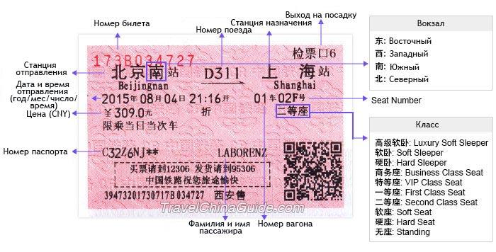 китайский билет