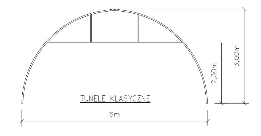 Tunel foliowy klasyczny
