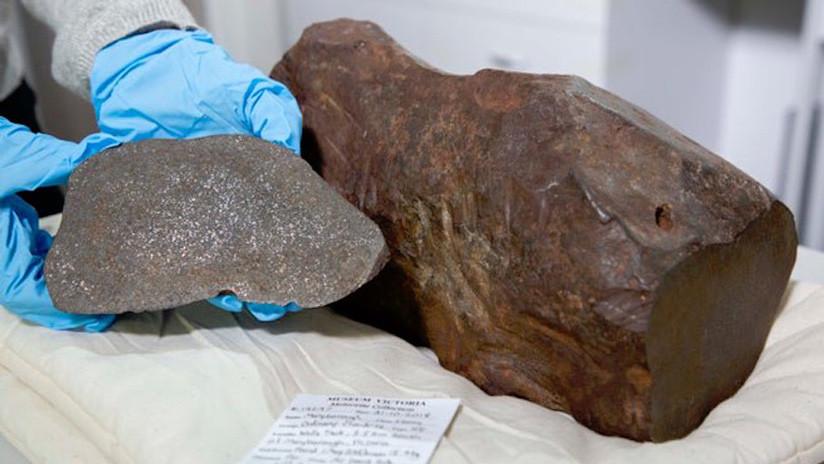 Guardó una roca pensando que era oro y era un meteorito