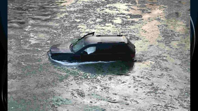Conductor cae a río congelado y ¡Siri lo salva! (FOTOS)
