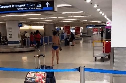 Mujer se desnudó en el aeropuerto de Miami y terminó arrestada