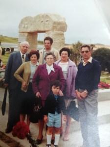 familia Cortezón en el Memorial por los fusilados de la Libertad, Ciriego, Santander