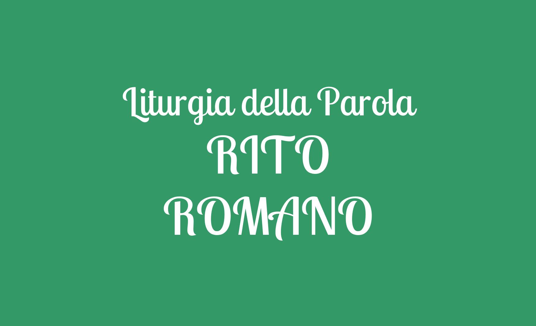 Parole Di Vita Calendario 2019.Vangelo Del Giorno Liturgia Del Giorno Rito Romano