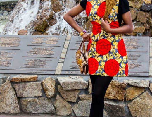 See how this African fashion blogger effortlessly style ankara African print outfits. Featuring the latest African styles. Click to see the second outfit.