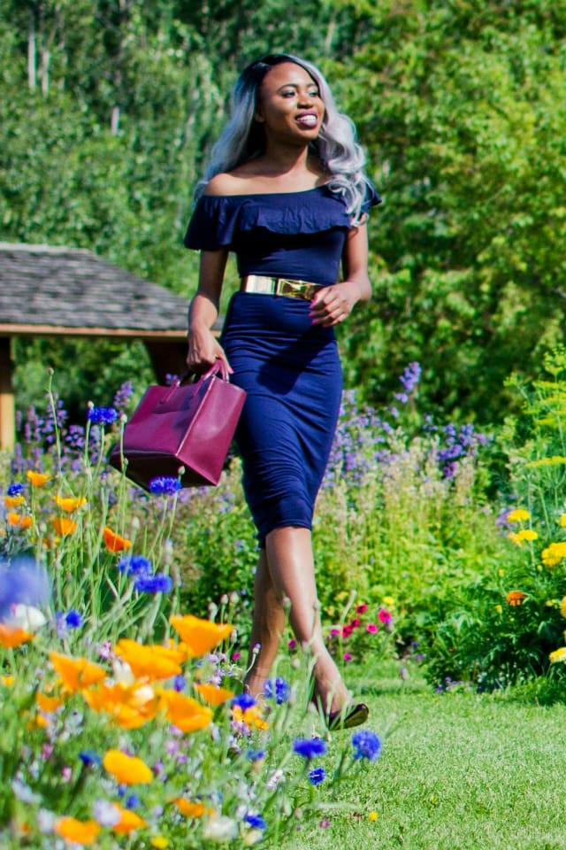 A chic crop top embodies the beautiful vibes of summer. Check out how to style one of this season's must-have clothing, an off the shoulder crop top with ruffles. Check out the rest of her look!