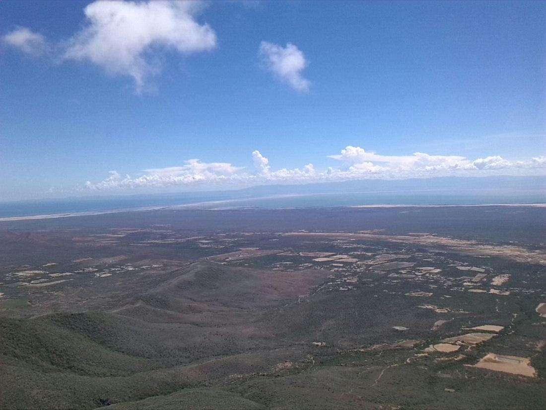 Vista sus de la Península de Paraguaná desde el Cerro Santa Aana el 30 OCT 2015 | Foto P. Albornoz