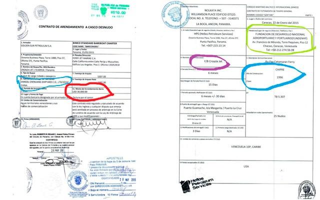 buque Croazia Jet documentos