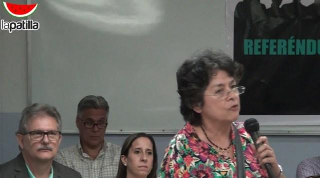 """Margarita López Maya """"No estamos dispuestos a quedarnos en una dictadura"""""""