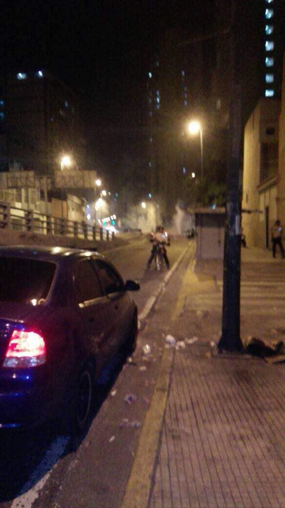 En San Martín a la altura del Metro Capuchinos, lanzaron lacrimógenas. Foto: Cortesía