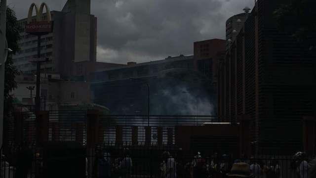 GNB reprimió a opositores en Bello Monte. Foto: esteninf Olivares