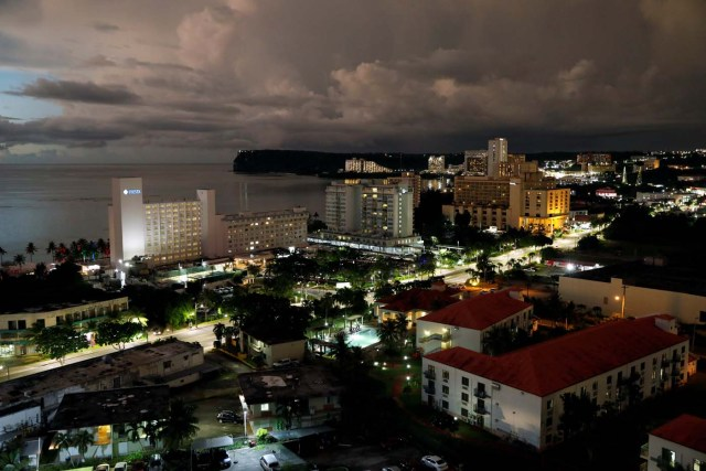 A view of Tumon tourist district at dusk on the island of Guam, a U.S. Pacific Territory, August 13, 2017. REUTERS/Erik De Castro