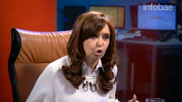 Cristina Kirchner, expresidenta de Argentina. (Foto: Infobae)