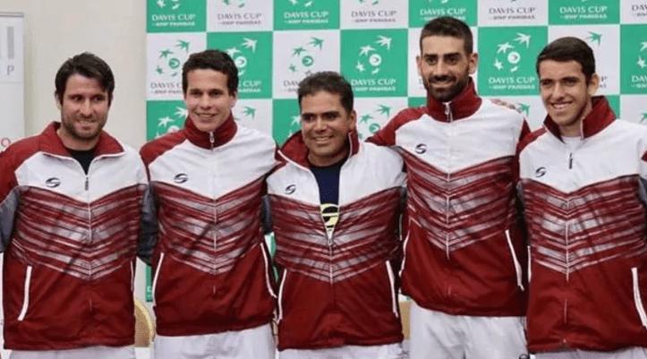 El equipo completo de Venezuela en Copa Davis (Infobae)