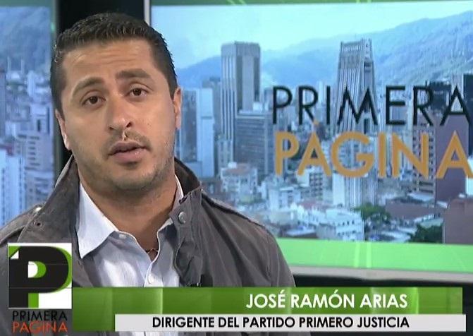 José Ramón Arias, precandidato por la Unidad en el estado Aragua // FOTO captura tv
