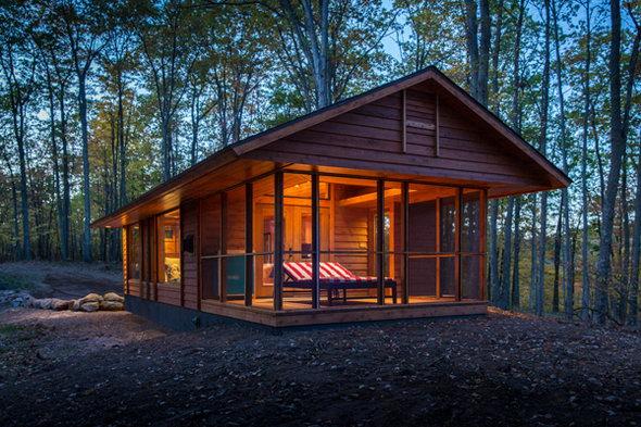 ¿En qué lugar te gustaría estar ahora? - Página 4 201404_escape-cabana-bosque-casa-movibles01