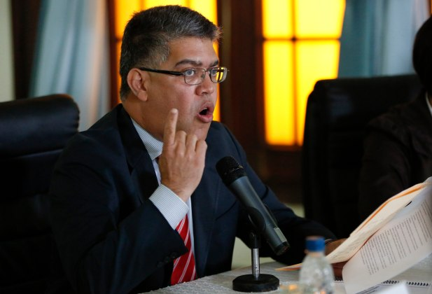 Venezuela's Foreign Minister Elias Jaua speaks during a news conference in Caracas