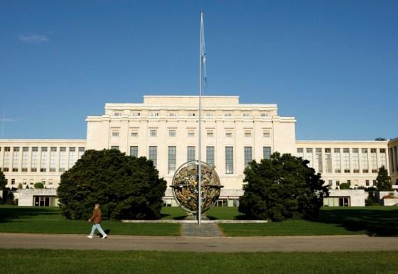 Imagen de archivo del edificio de las Naciones Unidas en Ginebra