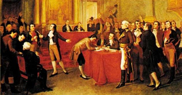 Firma del acta de independencia