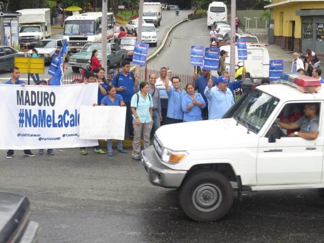 Protesta no al aumento de la gasolina UNT 20140808 3