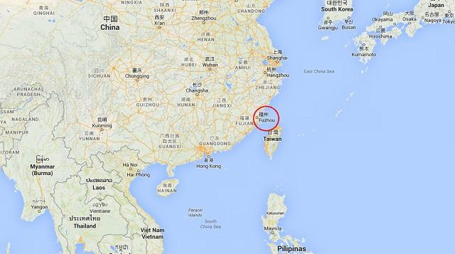 Fuzhou China Mapa