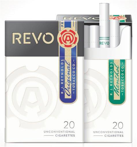Foto:  Los nuevos cigarrillos Revo de Reynolds American. La segunda empresa tabacalera más grande de EEUU presentó Revo, un cigarrillo que usa una punta de carbón para calentar el tabaco y que comenzará a venderse en el 2015 / AP