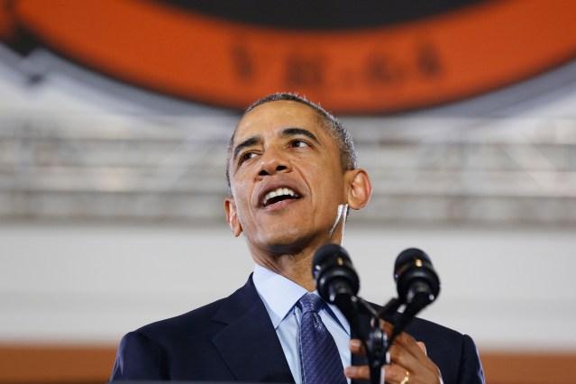 Foto de archivo del presidente de Estados Unidos, Barack Obama, en un acto en Nueva Jersey