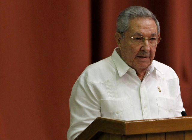 Cuba's President Raul Castro addresses the audience during the National Assembly in Havana