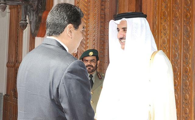 Nicolás Maduro saluda al Emir Sheikh Tamim bin Hamad Al-Thani / Foto QNA