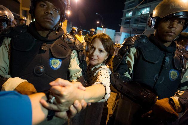 La esposa del alcalde mayor de Caracas Antonio Ledezma, Mitzy Capriles (Foto EFE)