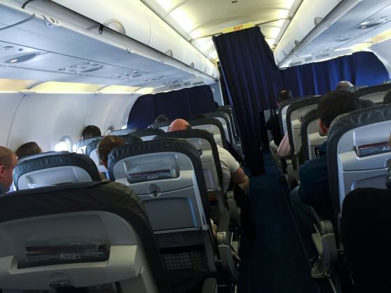 Passengers are seated aboard Airbus A321 operating Germanwings flight 4U9441, formerly 4U9525 from Barcelona to Dusseldorf